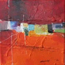 Remnant AM03 | Painting by artist Amrish Malvankar | mixed-media | Canvas