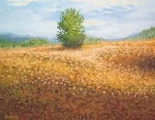 Fareed Ahmed | Oil Painting title Bush on Canvas Board | Artist Fareed Ahmed Gallery | ArtZolo.com