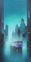 Monsoon Night   Painting by artist Somnath Bothe   acrylic   Canvas