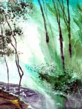 Falling Light | Painting by artist Anil Nene | watercolor | Paper