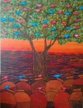 Nature | Painting by artist Sadaf Beg Khan | acrylic | canvas