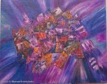 Cluttered - Life As We Live Today | Painting by artist Bhawna Jotshi | oil | Canvas