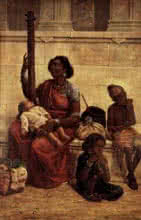 The Gypsies | Painting by artist Raja Ravi Verma Reproduction | oil | Canvas