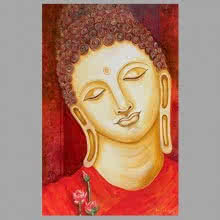 Buddha Painting | Painting by artist Ganesh Badiger | oil | Canvas