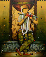 contemporary Acrylic Art Painting title 'THE MESMERIZING TUNES 10' by artist Anupam Pal