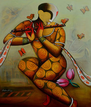 contemporary Acrylic Art Painting title The Mesmerizing Tunes 11 by artist Anupam Pal