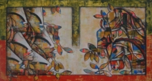 contemporary Mixed-media Art Painting title Power of speed 9 by artist Anupam Pal