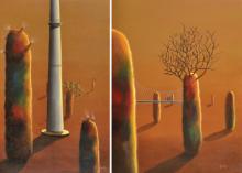 Budding Cosmos - 8 | Painting by artist Jagesh Edakkad | acrylic | Canvas