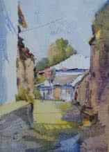 The Street | Painting by artist Ghanshyam Dongarwar | watercolor | hot pressed
