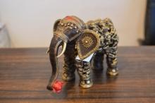 art, sculpture, brass, animal, elephant