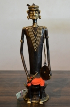 art, sculpture, brass, figurative
