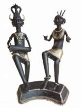 Tribal Dancing Pair | Craft by artist Kushal Bhansali | Brass
