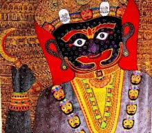 Meenakshi Jha Banerjee | Acrylic Painting title Basanti II on Canvas | Artist Meenakshi Jha Banerjee Gallery | ArtZolo.com