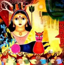 Meenakshi Jha Banerjee | Acrylic Painting title Untitled III on Canvas | Artist Meenakshi Jha Banerjee Gallery | ArtZolo.com