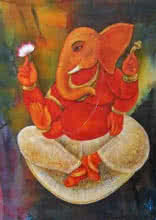 Lord Ganesha | Painting by artist Suparna Dey | tempera | Paper