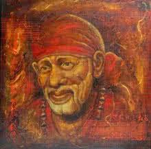 Anurag Swami | Oil Painting title Sai Baba III on Canvas | Artist Anurag Swami Gallery | ArtZolo.com