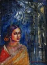 Rani   Painting by artist Harisadhan Dey   watercolor   Paper