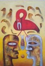 Close Encounter | Painting by artist Ranjith Raghupathy | oil | Canvas