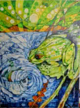 Pradip Goswami | Acrylic Painting title The Frog on Canvas | Artist Pradip Goswami Gallery | ArtZolo.com