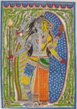 Ardhnariswar | Painting by artist Parboni Royghosh | watercolor | Handmade Paper