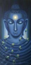 Meditating Buddha I   Painting by artist Madhumita Bhattacharya   oil   Canvas
