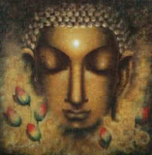 Meditating Buddha II | Painting by artist Madhumita Bhattacharya | acrylic | Canvas