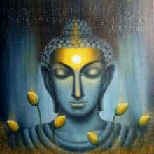 Madhumita Bhattacharya Paintings | Oil Painting title Buddham by artist Madhumita Bhattacharya | ArtZolo.com