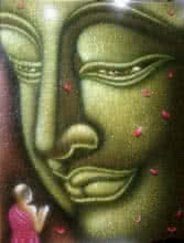 Religious Acrylic Art Painting title Lord buddha painting by artist Ramesh
