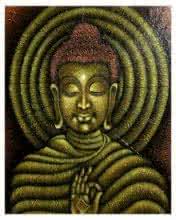 Ramesh | Acrylic Painting title Lord buddha painting on Canvas Board | Artist Ramesh Gallery | ArtZolo.com
