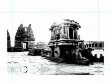 Hampi | Photography by artist Sawant Tandle | Art print on Canvas