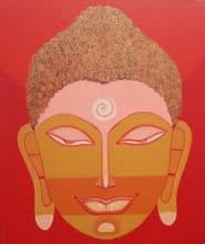 art, painting, canvas, acrylic, religious, god, gautama buddha