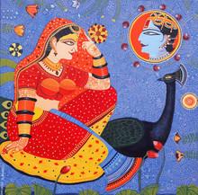 art, painting, canvas, acrylic, religious, god, radha