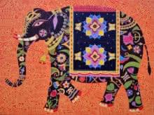 art, painting, canvas, acrylic, animal, elephant