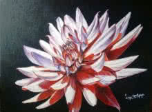 Nature Acrylic Art Painting title In full bloom by artist Lasya Upadhyaya