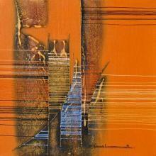 Speeding Abstract | Painting by artist Rahul Dangat | acrylic | Canvas