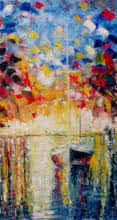 Kiran Bableshwar | Oil Painting title Pier Regalia10x18 on Canvas | Artist Kiran Bableshwar Gallery | ArtZolo.com
