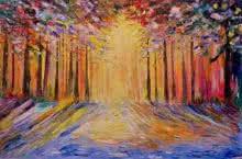 Sunrise | Painting by artist Kiran Bableshwar | oil | Canvas