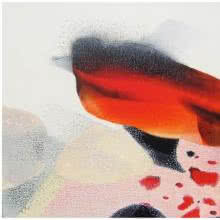 Orange Surprise Abstract | Mixed_media by artist Neeraj Ydava | Canvas