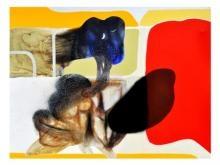 Neeraj Ydava | Abstract Reflection Mixed media by artist Neeraj Ydava on Canvas | ArtZolo.com