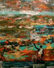 Devin Conversation | Painting by artist Nishant Mishra | acrylic | Canvas