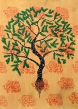 Jaya Vriksh | Painting by artist Sumit Mehndiratta | acrylic | paper