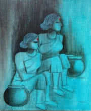 #contemporary#indian rural women#pots#watching@pleasant