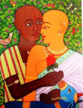 V.v. Swamy | Acrylic Painting title Expression Of Love on Canvas | Artist V.v. Swamy Gallery | ArtZolo.com