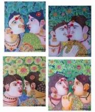 Painting Set 2   Painting by artist Bhawandla Narahari   acrylic   Canvas