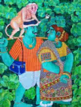 Untitled | Painting by artist Bhawandla Narahari | acrylic | Canvas
