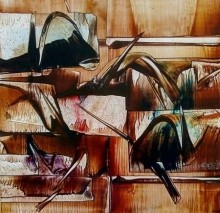 Untitled 6   Painting by artist Ramesh Kher   oil   Paper