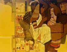 Door | Painting by artist Siddharth Shingade | acrylic | Canvas