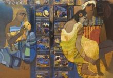 Figurative Acrylic Art Painting title Door 10 by artist Siddharth Shingade