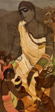 Religious Acrylic Art Painting title 'Gautama Budhha 2' by artist Siddharth Shingade