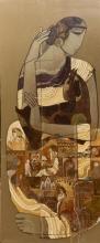 Figurative Acrylic Art Painting title Lady by artist Siddharth Shingade